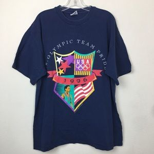 Vintage USA 1996 Navy Short Sleeve T Shirt